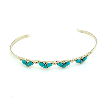 Turquoise and Hearts Bracelet