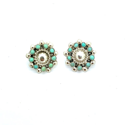 Turquoise Cluster Stud