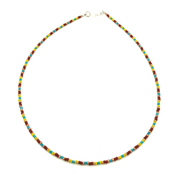 Dainty Autumn Beaded Necklace