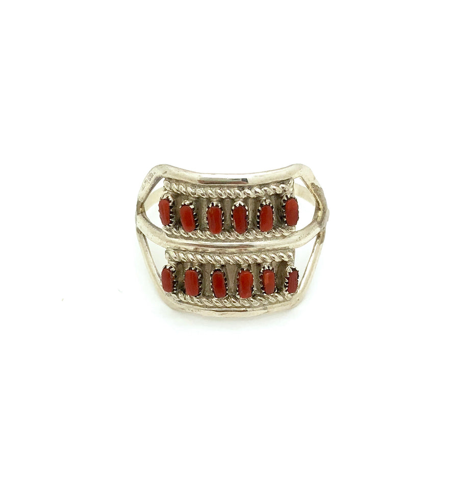 Needle Point Coral Ring