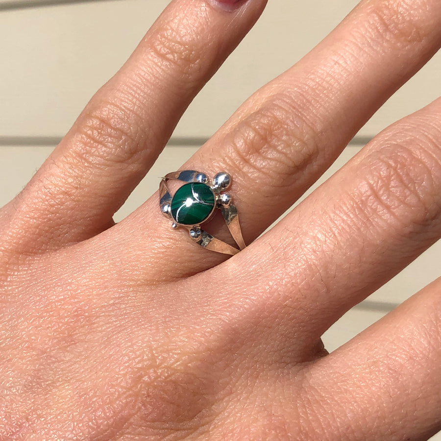 Malachite Turtle Ring