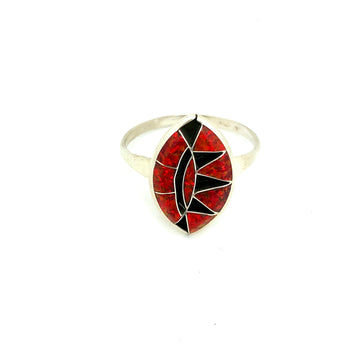 Sunshine Red Opal Ring