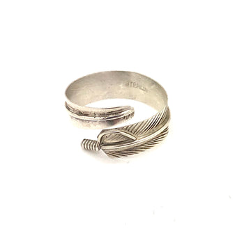Sterling Feather Wrap Ring