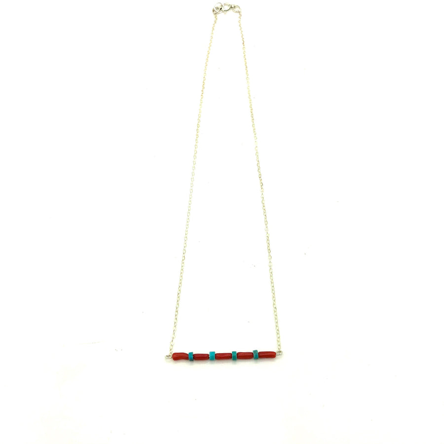 Coral Desert Bar Necklace