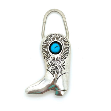 Turquoise Boot Keychain