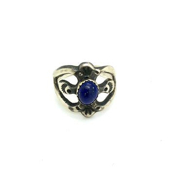 Brushed Lapis Ring