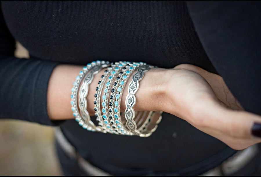 Turquoise Nugget Bangle Cuff