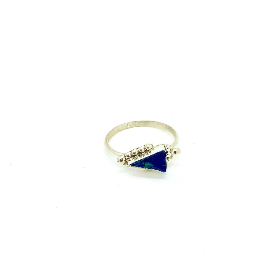 Blue Opal Arrow Ring