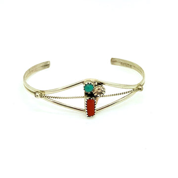 Spiny Oyster and Turquoise Bracelet