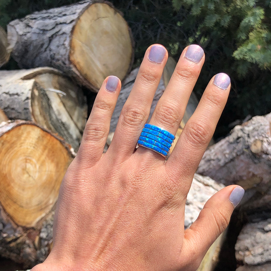 Blue Stacked Ring