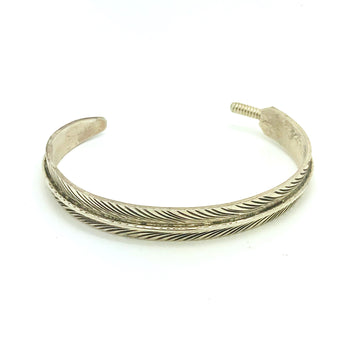 Sterling Feather Bracelet