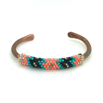 Beads and Copper Bracelet