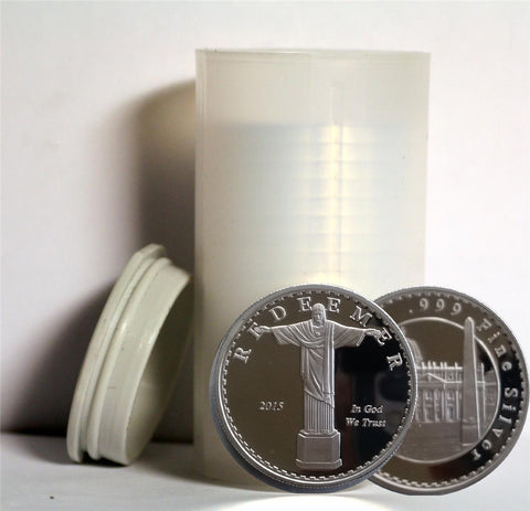 Vatican Silver Coin Tube With 20 Vatican Redeemer Coins
