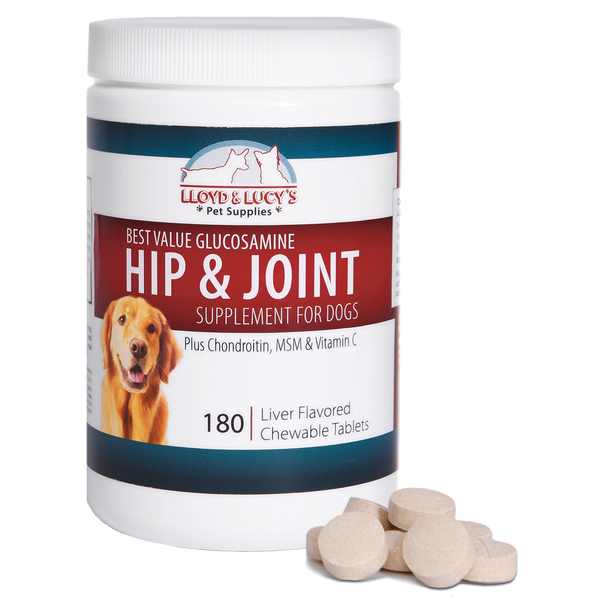 Lloyd and Lucy's Pet Supplies' joint care supplement for dogs can increase your dog's activity.