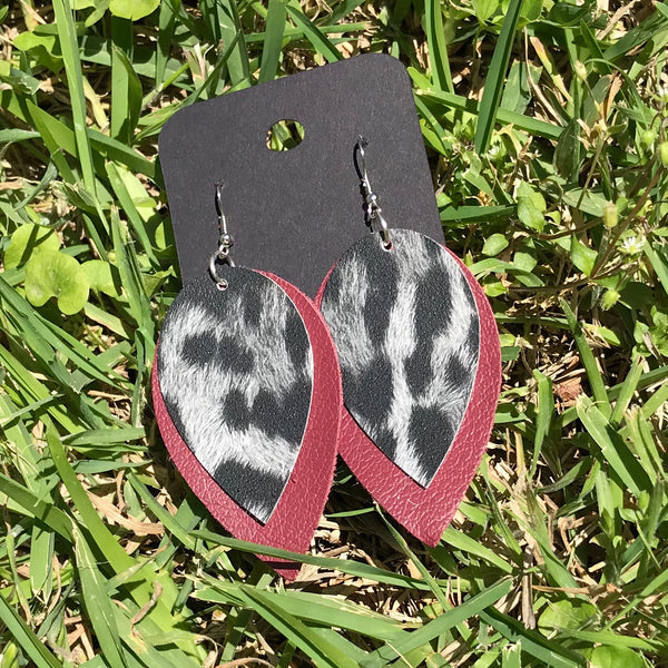 terra leather earrings