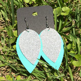tiffany leather earrings