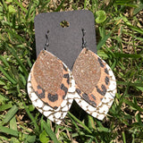 sasha leather earrings