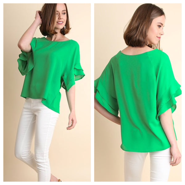 georgia top - emerald green