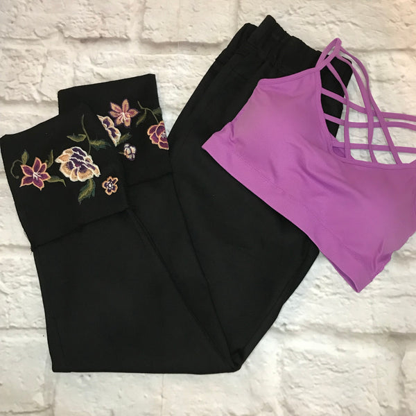 claire embroidered jeggings