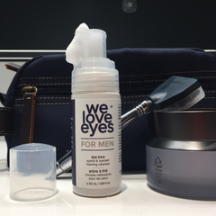 We Love Eyes Tea Tree Eyelid Foaming Cleanser for Men with Dopp Kit