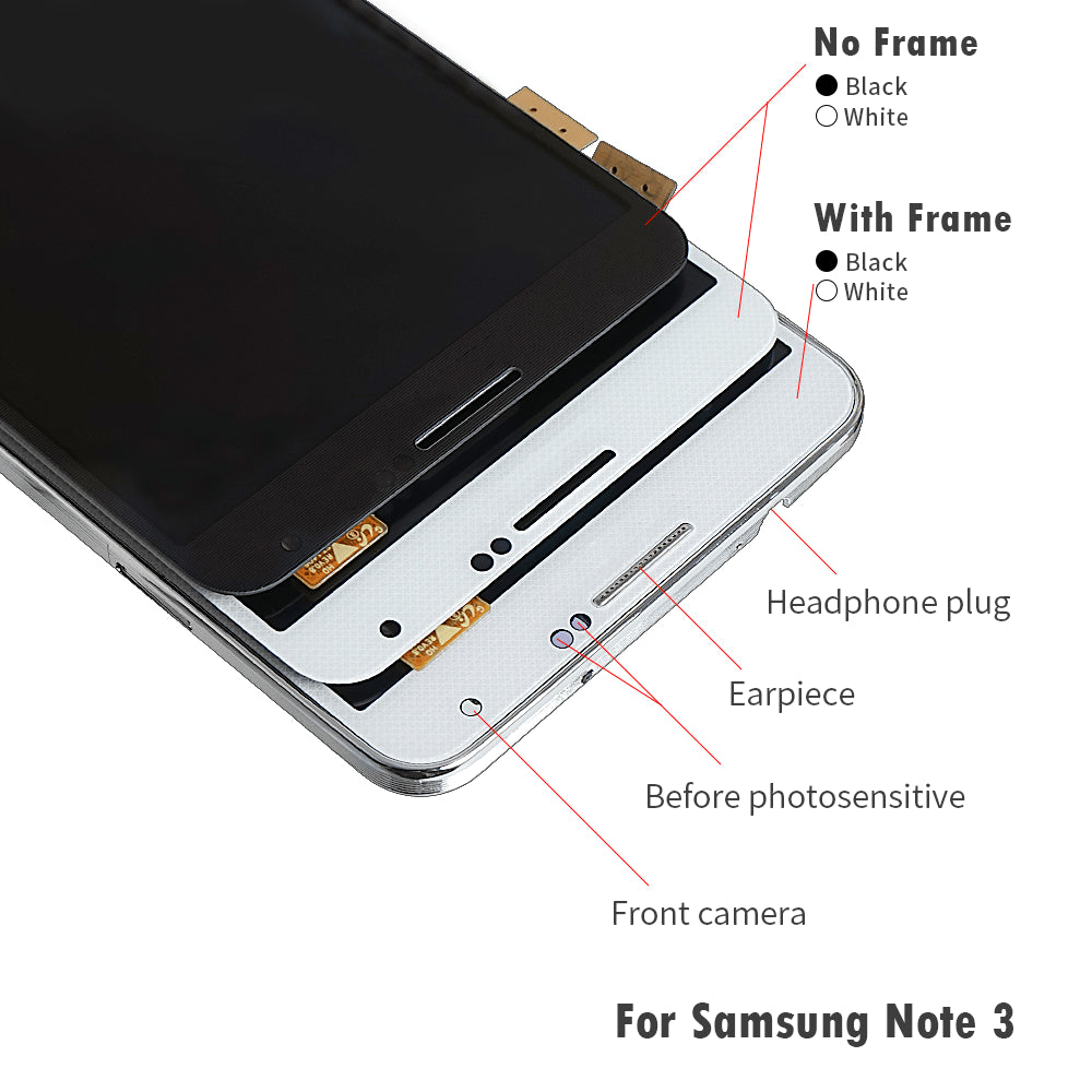 LCD Touch Screen Digitizer Display for Samsung Galaxy Note 3 SM-N900W8 SM-N900F Pic0