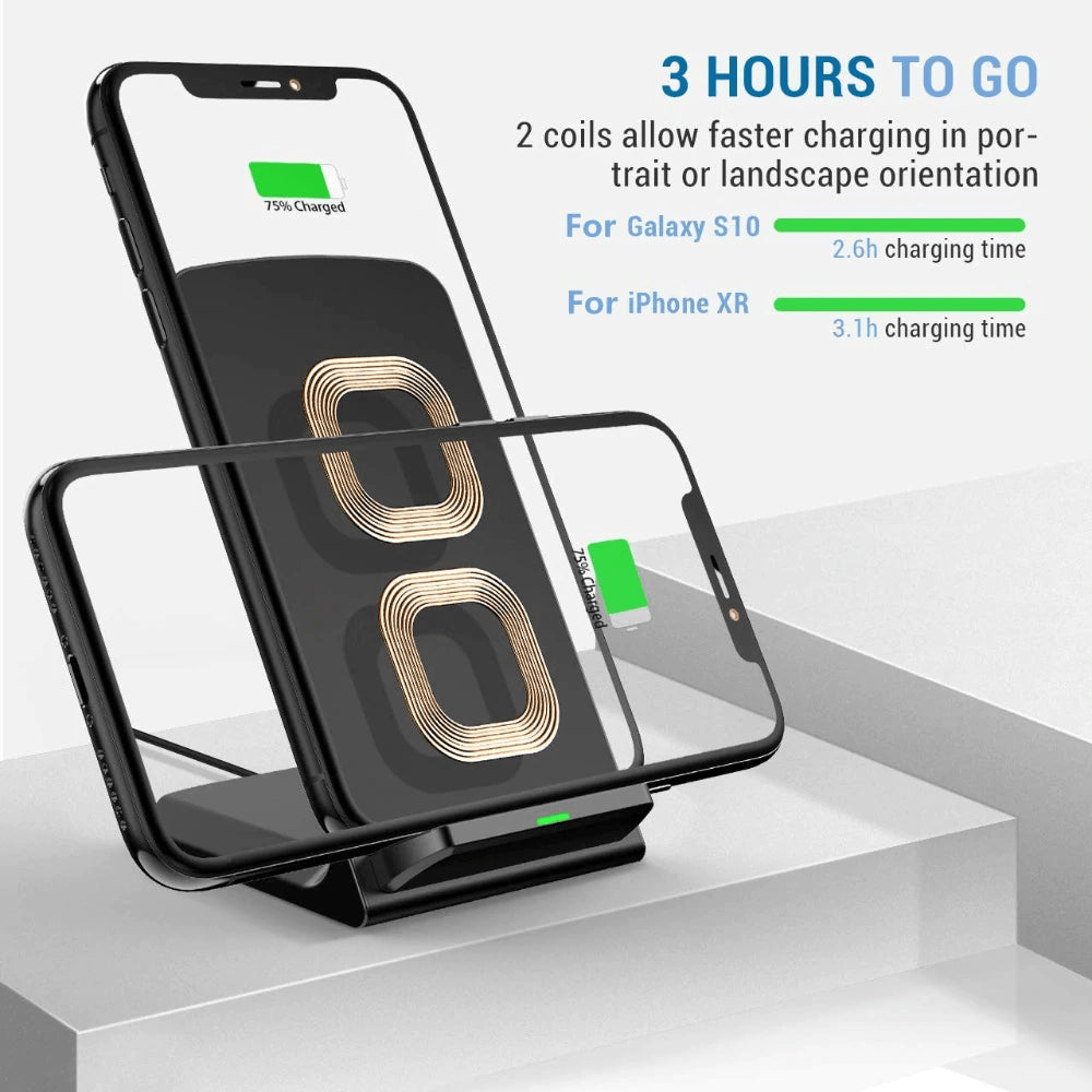 15W Qi fAST Wireless Charger for iPhone 11 X XS 8 XR Pro Samsung S9 S10 S8 Pic2