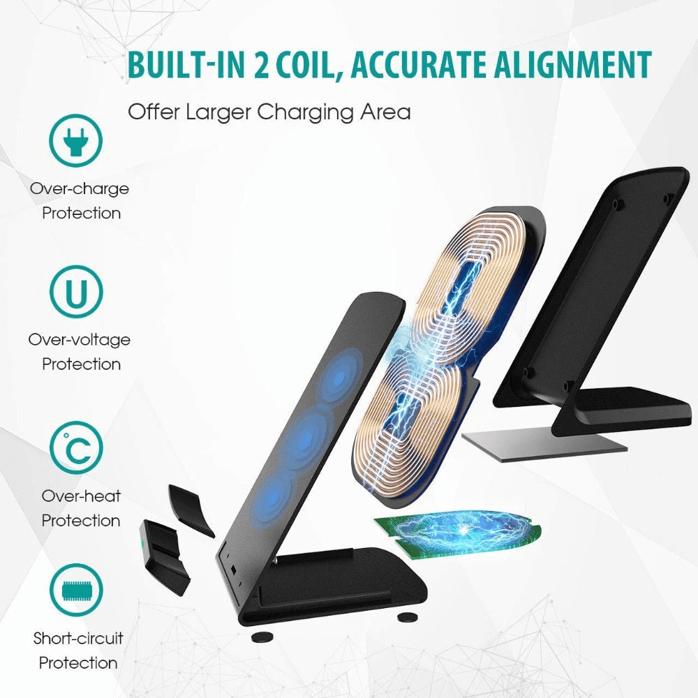 15W Qi fAST Wireless Charger for iPhone 11 X XS 8 XR Pro Samsung S9 S10 S8 Pic4