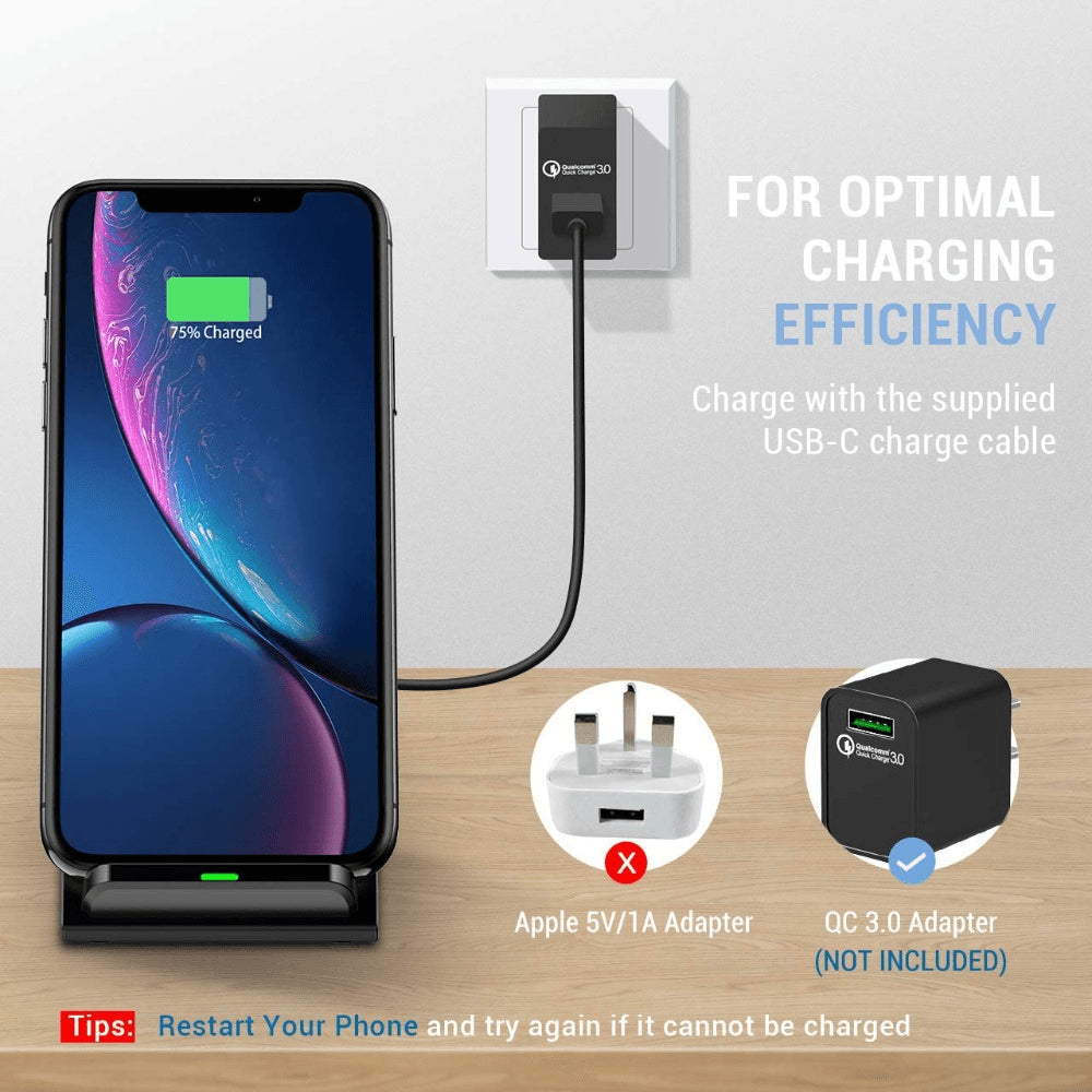 15W Qi fAST Wireless Charger for iPhone 11 X XS 8 XR Pro Samsung S9 S10 S8 Pic6