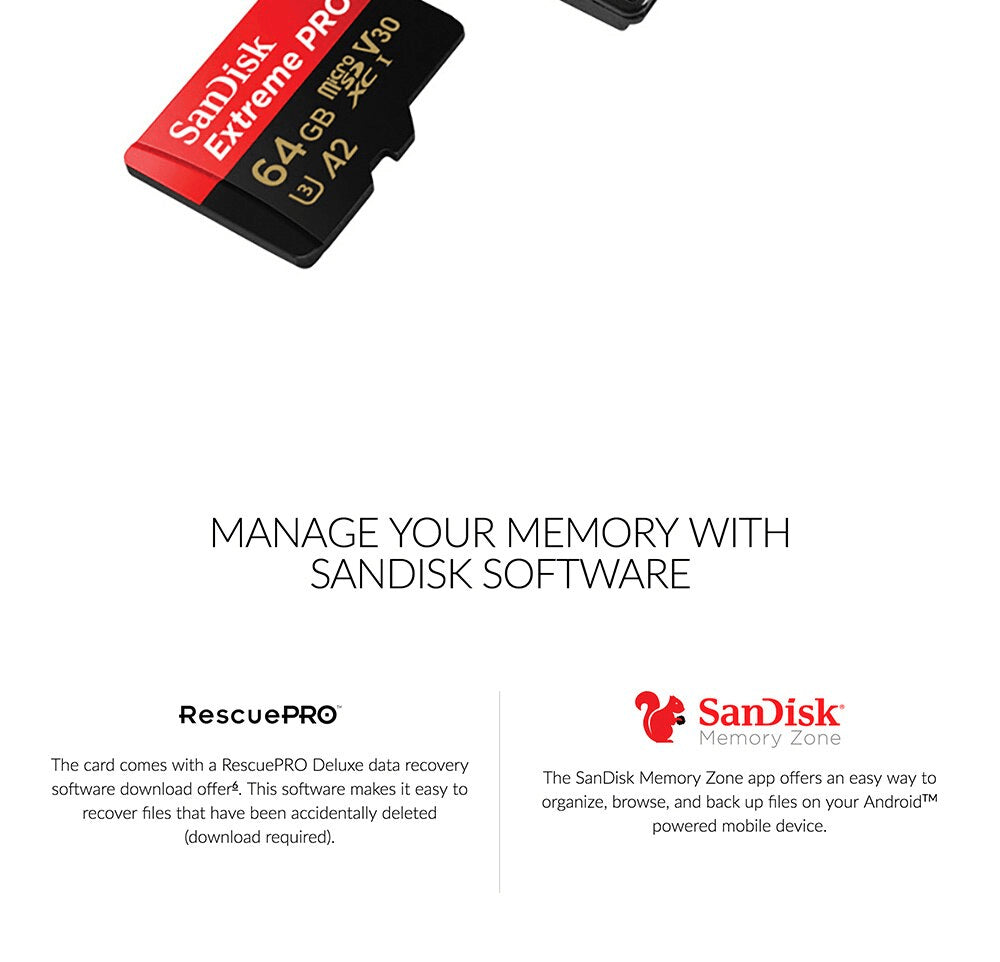 Sandisk Micro SD Extreme Pro Memory Card High Speed 32GB 64GB 128GB 256GB 400GB Pic5