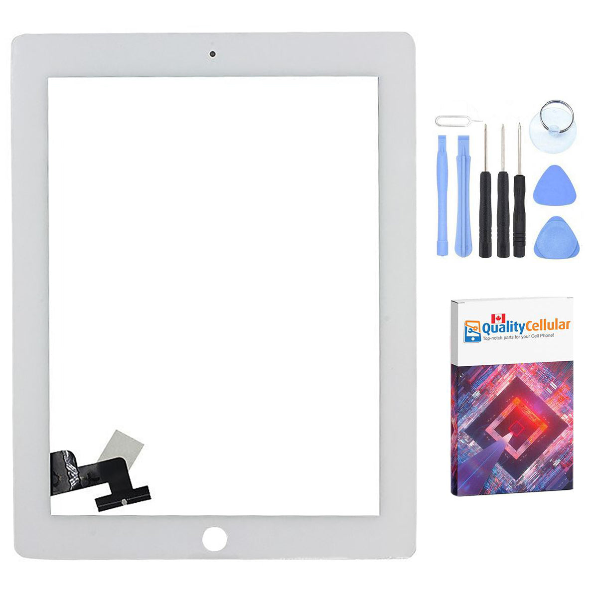 Apple iPad 2 Touch Screen Glass Display Digitizer with tools - Black Main