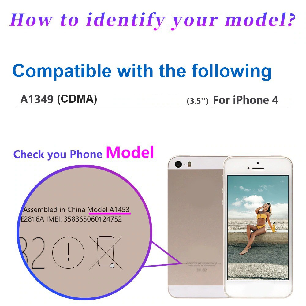 Compatible with iPhone 4 A1349 CDMA