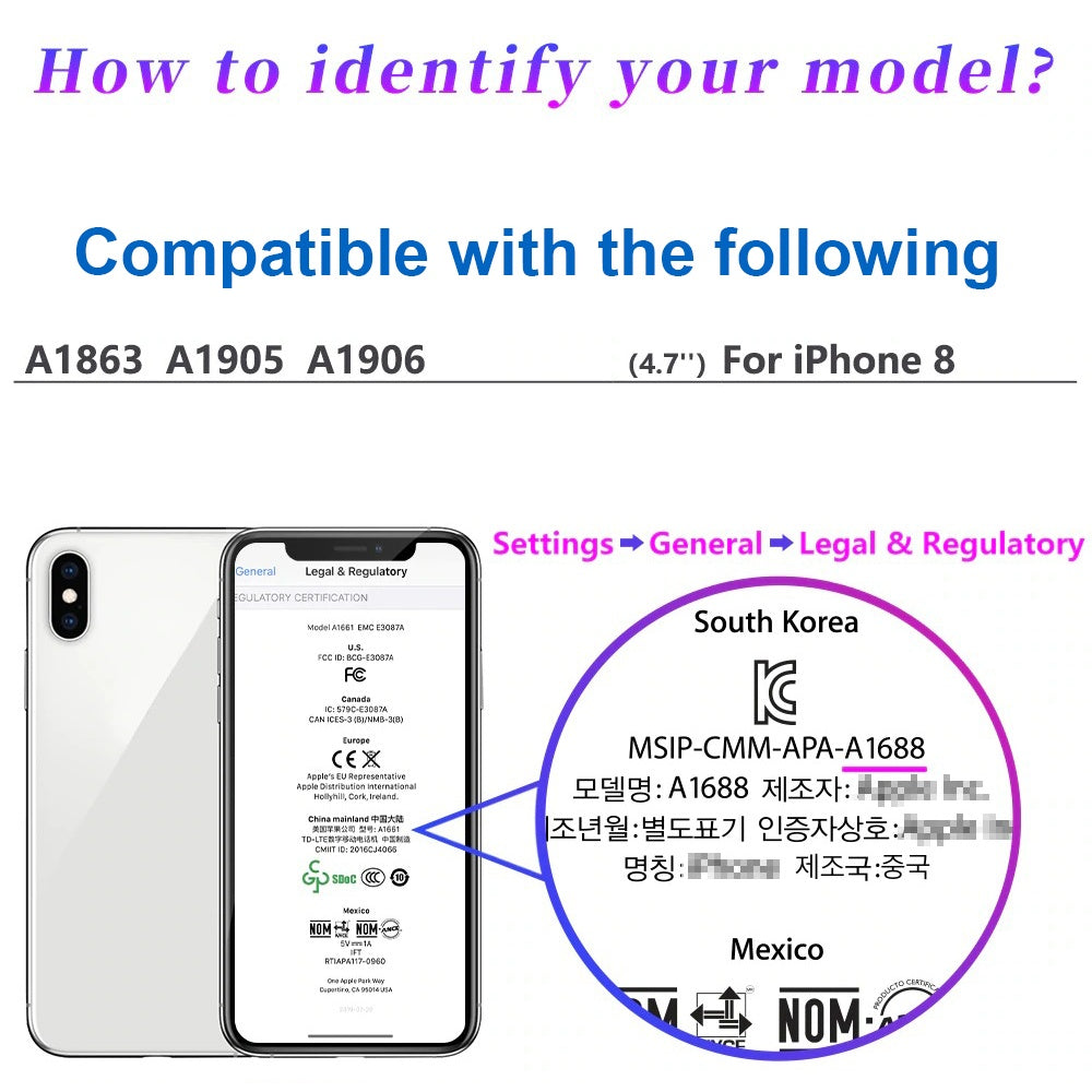 Compatible with iPhone 8