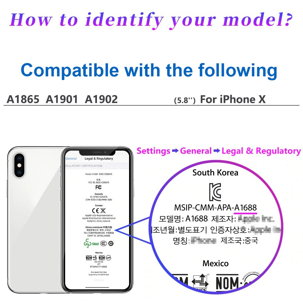 Compatible with iPhone X