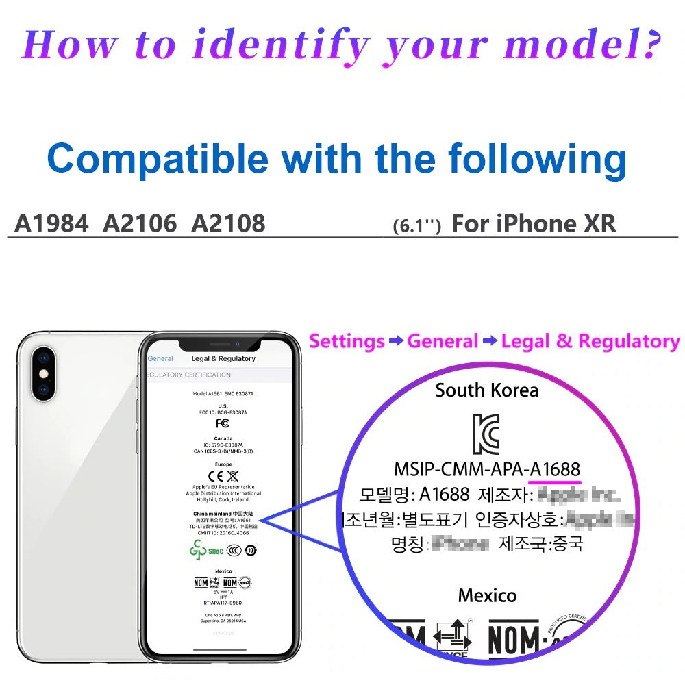 Compatible with iPhone XR