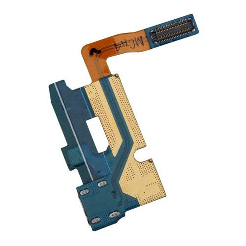 Charging port flex cable and microphone for Samsung Galaxy Note 2 II GT-N7100 Pic1