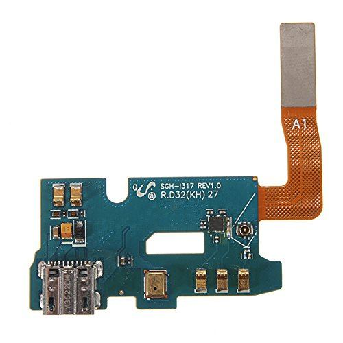 Charging port flex cable and microphone for Samsung Galaxy Note 2 II SGH-i317 Pic0