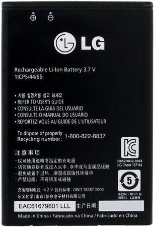New Original BL-44JN 1540 mAh battery for LG MS840 VS700 LS855 E739 LS700 LGL75C Pic1