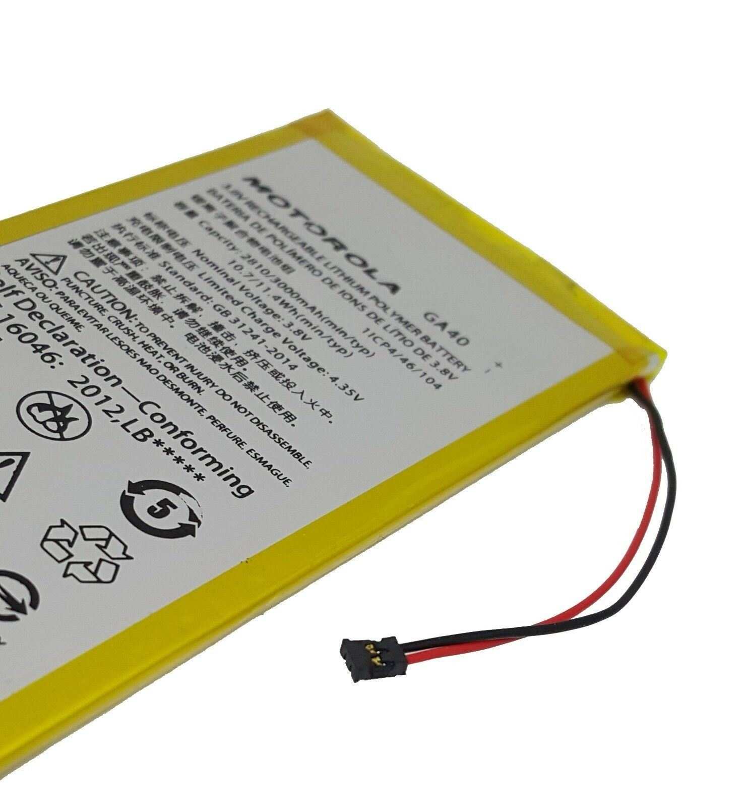Original Motorola GA40 3000 mAh Battery for Moto G4 XT1622 XT1625 G4 Plus XT1644 Pic2