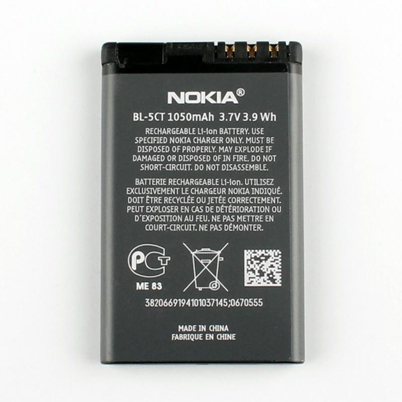 New Original BL-5CT 1050 mAh Battery for Nokia C3 X3 3720 5220 5310 6730 7510 Pic1