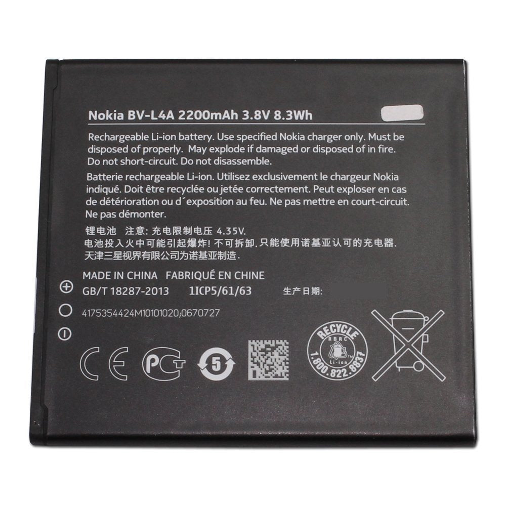 New Original OEM BV-L4A 2200 mAh Battery for Nokia Lumia 830 RM-984 RM-985 Pic1