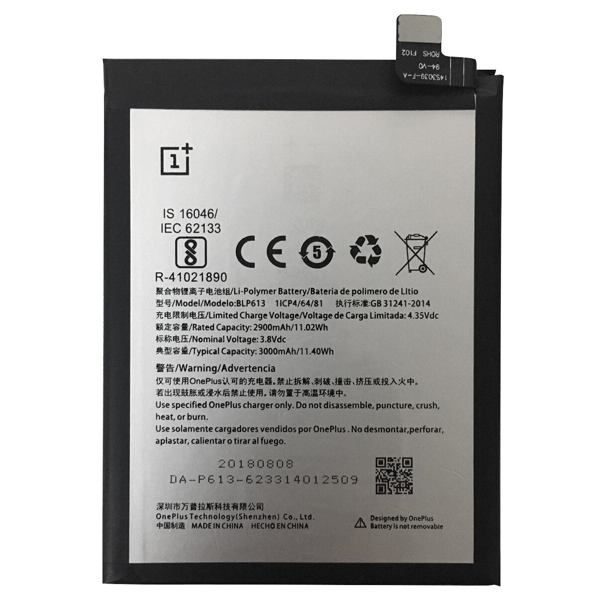 Original BLP613 3000 mAh Battery Replacement for OnePlus 3 A3000 A3003 Pic0