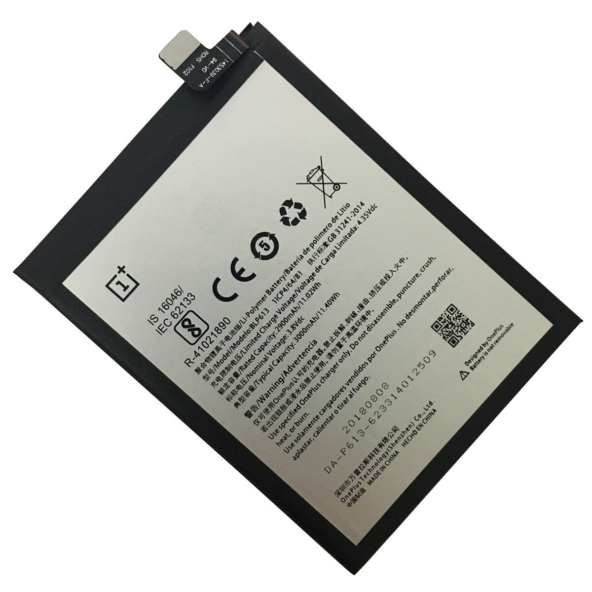 Original BLP613 3000 mAh Battery Replacement for OnePlus 3 A3000 A3003 Pic2