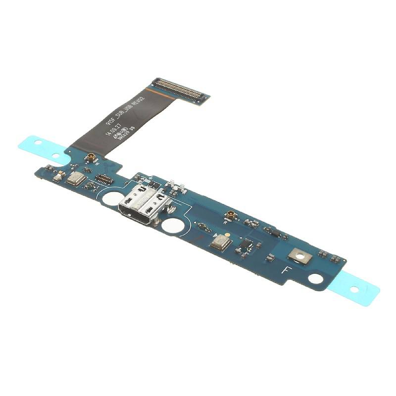 Charging port flex cable and microphone Samsung Galaxy Note Edge SM-N915W8 N915F Pic0
