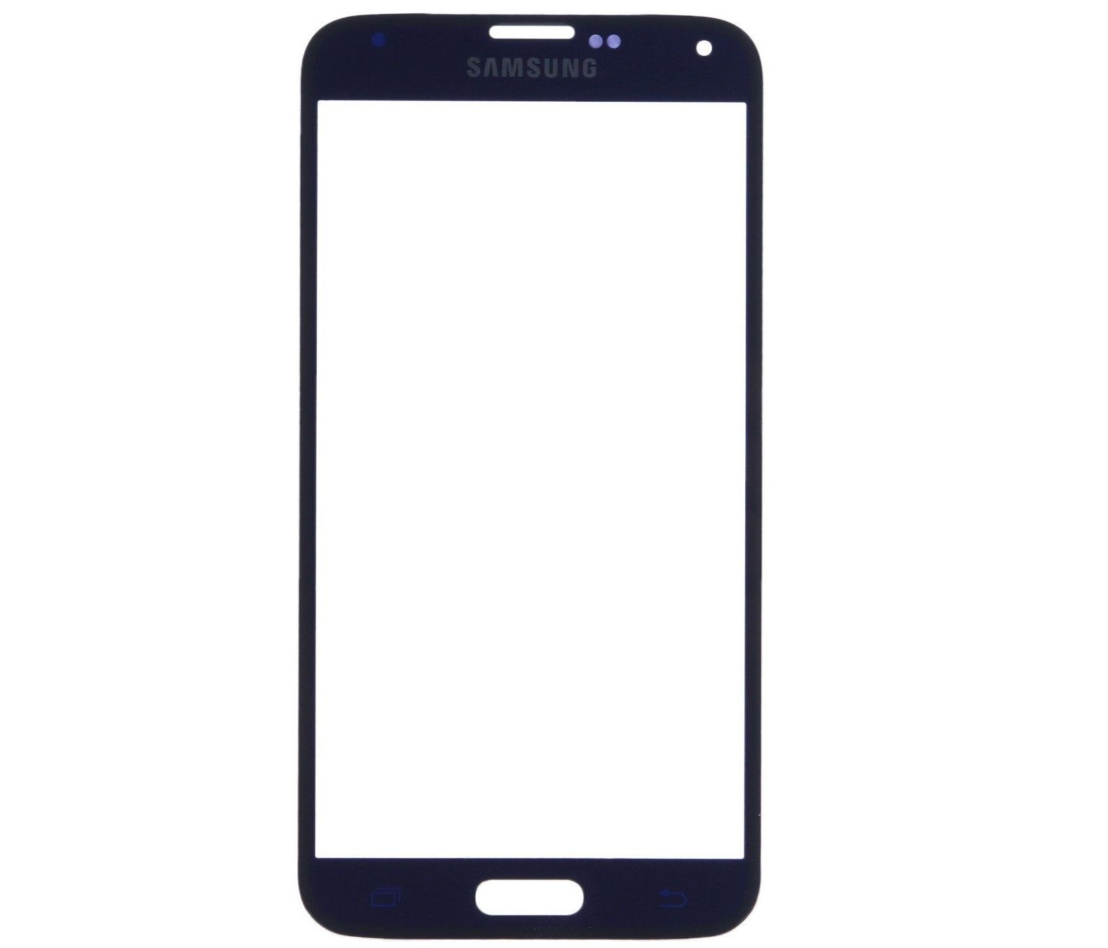 Samsung Galaxy S5 Blue Front Glass Lens with Adhesive and Free Tools Pic1