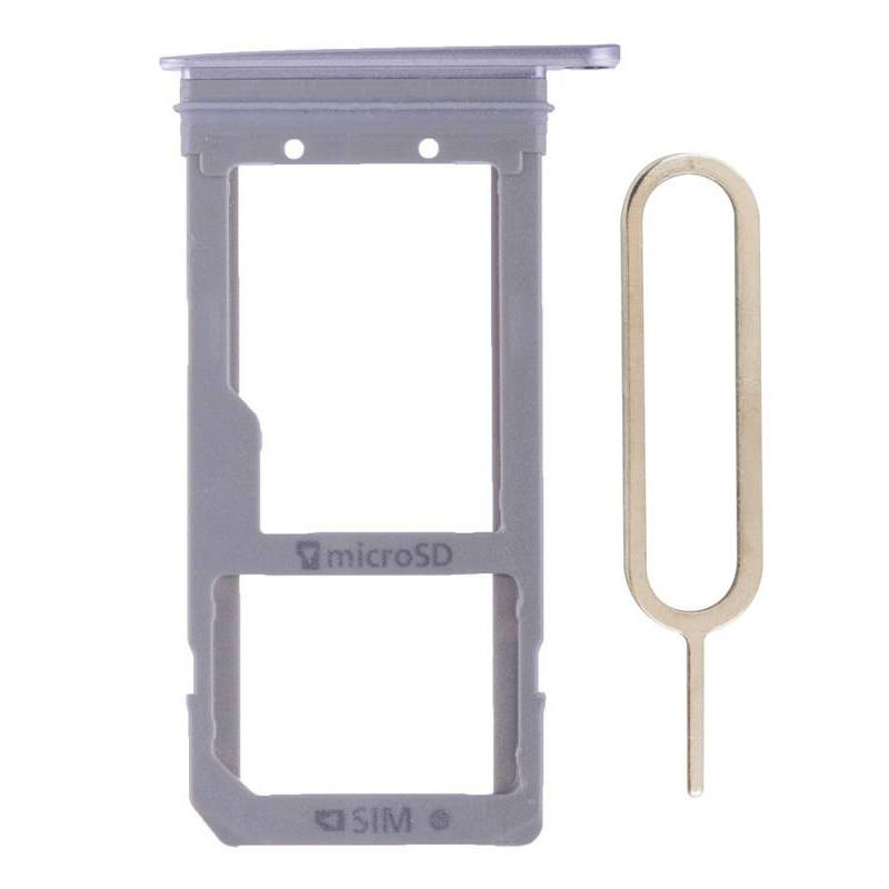 Original Samsung Galaxy S7 Edge SIM Card Tray Holder with Eject Tool - Gray Pic0