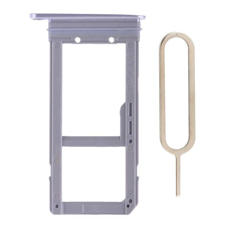 Original Samsung Galaxy S7 Edge SIM Card Tray Holder with Eject Tool - Gray Pic1