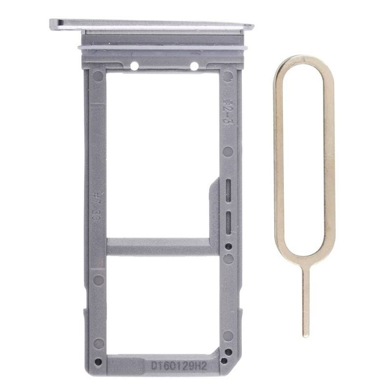 Original Samsung Galaxy S7 Edge SIM Card Tray Holder with Eject Tool - Silver Pic1