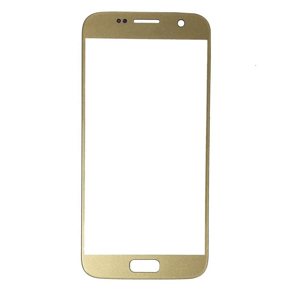 Samsung Galaxy S7 Front Glass Lens with Adhesive and Free Tools - Gold Pic1