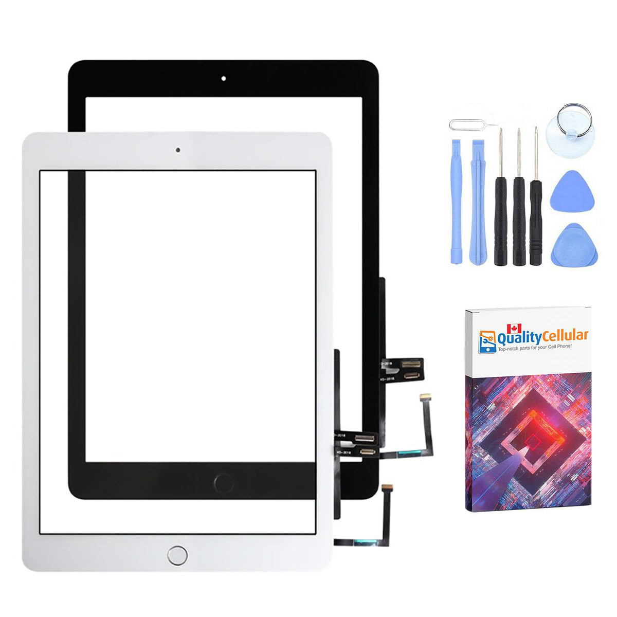Touch Screen Digitizer for iPad 6th Generation (2018) A1893 A1954 Black / White Main