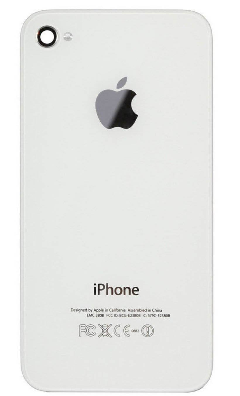 New Glass Back Battery Door Cover for iPhone 4 GSM A1332 with Pentalobe - White Pic1